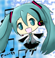 Miku Chibi no.2 by pinni137