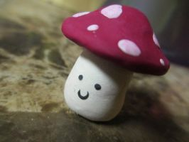 Clay Mini Mushroom Figurine by DemigodWarriorWizard