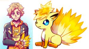 Electric Vulpix (fakemon) by NarumyNatsue