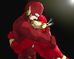 The Flashes - Barry and Wally by BIazeRod