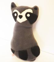 Fleece Racoon Plushie Stuffed Animal by Jesswaveshello
