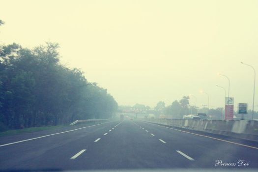 morning view in freeway by d3ph