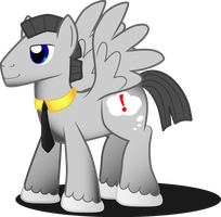Gray Pegasus number 1 by MidnightQuill