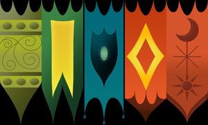 Hall Of Elements WIP - Flags by argodaemon