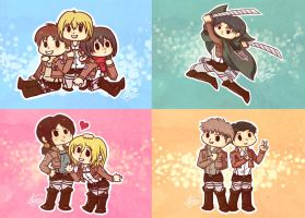 Shingeki no Chibi by crimson-firelight
