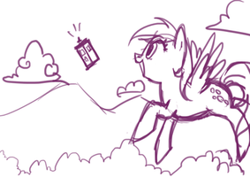 Derpy and the Tardis by Apple-Cake