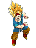 Goku Jr SSJ1 by SpongeBoss