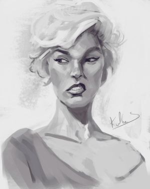 Study-face#1 by Kalberoos