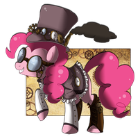 Steampunk Series: Pinkie Pie by WONDERB0LT