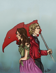 Enjolras and Eponine by ScarletMoonbeam