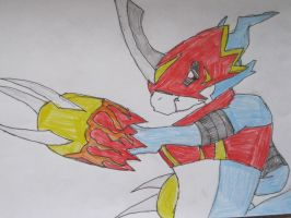 Flamedramon will attack by NewMoon-Dragoness