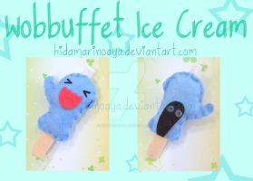 Wobbuffet Ice Cream Keychain Plush by HidamariNoAya