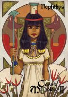 Nephthys Base Card Art - Chrissie Zullo by Pernastudios