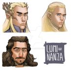 The Hobbit bookmarks #3 by Luminanza