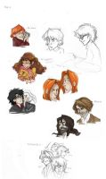 HP sketches - Book 3 by monotogne