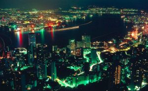 Hong Kong at Night - 1979 by nikonforever