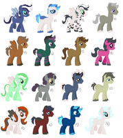 Adult Pony Adopts - CLOSED by zafara1222