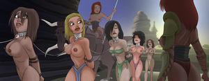 slavegirls on the trail by julianapostata
