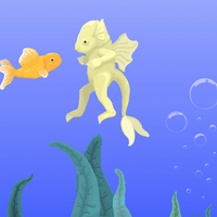 A Little Yellow Aquamouse D by Wuvu777