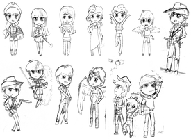 Humanized (Chibi?) Ponies by ZdaySurvivor