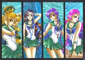 Sailor Team of Neptune by Toto-the-cat