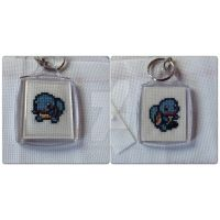 Squirtle keychain by horrorfreakjuh
