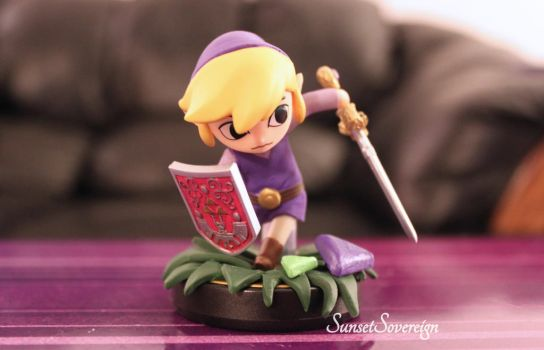 Toon Link Amiibo- Four Swords Repaint by SunsetSovereign