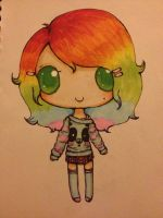 Rainbow girl request...so colourful! by KIBBLK9