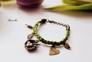 Bangle with Swallow by KaoriArt