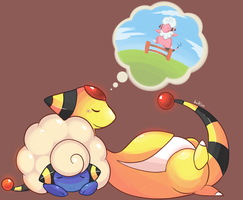 Ampharos line by bukin