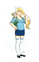 Fionna and Cake by Yaushie