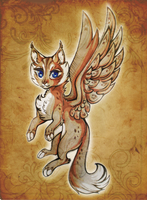 Winged Kitten by Lisannexx