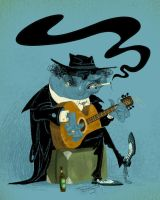 Blues guitarist by T-U-L-P