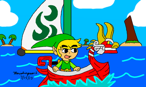 Link at the Great Sea by MarioSimpson1