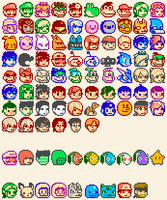Smash Wii U/3DS Character Icons (Updated) by knitetgantt