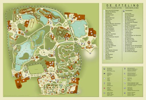 Efteling Map 2013 by TheoVision