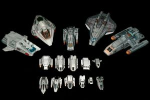 1:200 Trek Shuttle collection by ThunderChildFTC