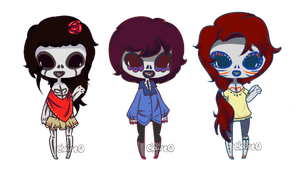 Sugar Skull set: CLOSED by claire-face