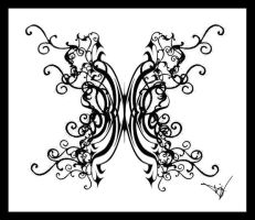 Gothic Ivy Butterfly by Quicksilverfury