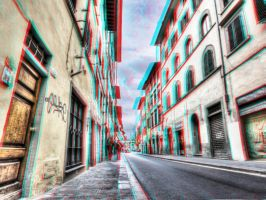 Street in Florence 3-D conversion by MVRamsey