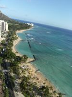 Waikiki Beach - Diamond Head by rioka