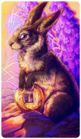Tarot : QUEEN OF COINS by leptailurus-serval