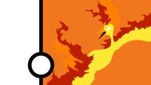 Moltres Minimalist Wallpaper by Narflarg