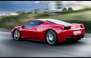 Ferrari 458 on freeway by tmz99