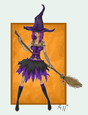 purple witch for contest by 5euro schein - Cad�Lara AvatarLar :)