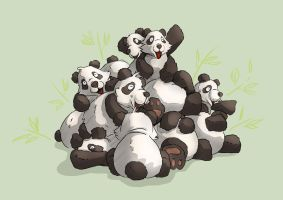 Pile of Panda by NikiVandermosten