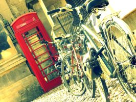 Bikes and Telephone box by PhotographyisArt123