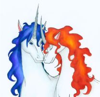 'Unicorn of Flames'- 'Embrace' by PhoenixWildfire