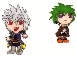 Chibi Shadow and Hydron by MegamiMizuL