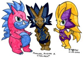 Porker and Friends *Updated* by trinityweiss